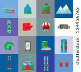 set for winter holiday in the... | Shutterstock .eps vector #534456763