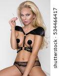 sexy blonde woman sensual femme ... | Shutterstock . vector #534466417
