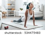 time for yoga.  attractive and... | Shutterstock . vector #534475483