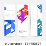 geometric background template... | Shutterstock .eps vector #534480517