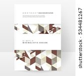 geometric background template... | Shutterstock .eps vector #534481267