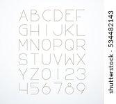 vector thin font. english... | Shutterstock .eps vector #534482143