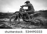 Crazy Motocross In Mud Black...