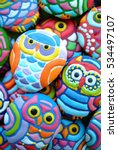 owl cookies   christmas tree... | Shutterstock . vector #534497107