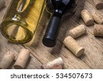 Glass Bottle Of Wine With Cork...