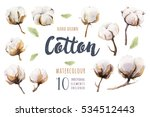 set of hand drawn watercolour... | Shutterstock . vector #534512443
