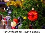 christmas ball ornaments... | Shutterstock . vector #534515587