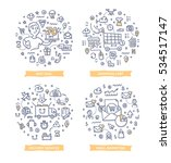 doodle vector illustrations of... | Shutterstock .eps vector #534517147