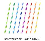 striped colorful drinking... | Shutterstock .eps vector #534518683