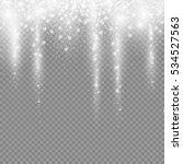 falling christmas light... | Shutterstock .eps vector #534527563