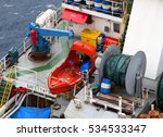 supply boat transfer cargo to... | Shutterstock . vector #534533347