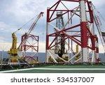 offshore oil rig drilling... | Shutterstock . vector #534537007