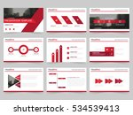 red abstract presentation... | Shutterstock .eps vector #534539413