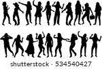 beautiful women dancing.concept ...   Shutterstock .eps vector #534540427