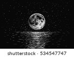 moon reflecting in a sea... | Shutterstock .eps vector #534547747