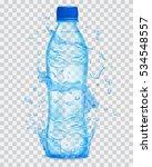 transparent water splashes in... | Shutterstock .eps vector #534548557