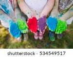 hands   palms of young people... | Shutterstock . vector #534549517