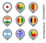set of flag map point isolated... | Shutterstock .eps vector #534549607