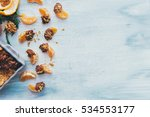 served chocolate dipped... | Shutterstock . vector #534553177