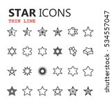 simple modern set of star icons.... | Shutterstock .eps vector #534557047