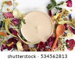 empty round wooden plate copy