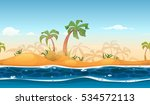 seamless tropical beach... | Shutterstock .eps vector #534572113