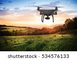 silhouette of hovering drone... | Shutterstock . vector #534576133