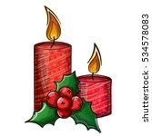 colorful sketch of christmas... | Shutterstock .eps vector #534578083