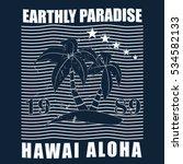 hawaii   vector illustration in ...   Shutterstock .eps vector #534582133