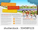 template for advertising... | Shutterstock .eps vector #534589123