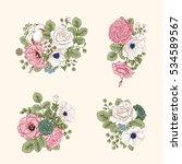 bouquet of flowers. wedding... | Shutterstock .eps vector #534589567