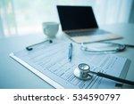 doctor workplace in office   Shutterstock . vector #534590797