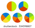 set pie chart  graphs in 2 3 4... | Shutterstock .eps vector #534598807