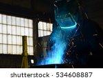welders working at the factory... | Shutterstock . vector #534608887