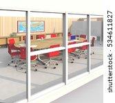 3d interior rendering of...   Shutterstock . vector #534611827
