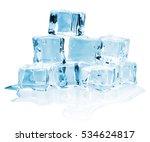 ice cubes | Shutterstock . vector #534624817