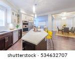 modern  bright  clean  kitchen... | Shutterstock . vector #534632707