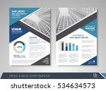 blue annual report brochure... | Shutterstock .eps vector #534634573
