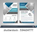 blue annual report brochure... | Shutterstock .eps vector #534634777