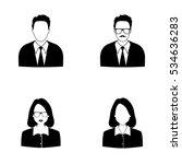 businessman and businesswoman... | Shutterstock .eps vector #534636283