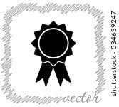 badge with ribbons  black ... | Shutterstock .eps vector #534639247