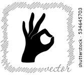 okay  black  vector icon | Shutterstock .eps vector #534645703