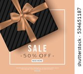 winter sale banner with gift... | Shutterstock .eps vector #534651187
