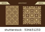 diy laser cutting set. woodcut... | Shutterstock .eps vector #534651253