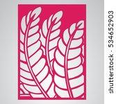 die cut card. laser cut vector... | Shutterstock .eps vector #534652903