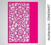 die cut card. laser cut vector... | Shutterstock .eps vector #534654697