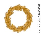 christmas gold wreath  new... | Shutterstock .eps vector #534658087