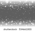 falling glowing snow with stars ... | Shutterstock .eps vector #534661003