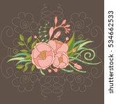vintage floral composition   Shutterstock .eps vector #534662533
