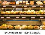 bright shot of burgers  donuts... | Shutterstock . vector #534665503